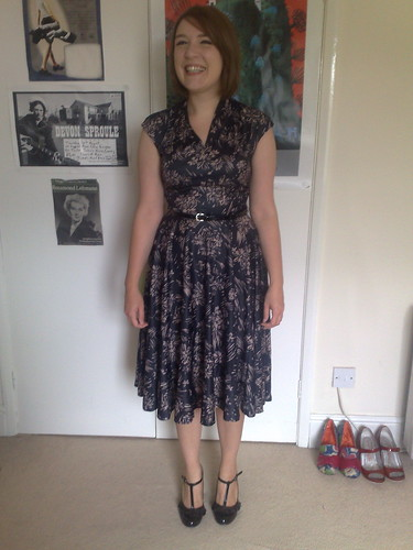 Vintage dress and Firetrap shoes