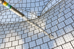 Transparent Roof with Grid Structure (yushimoto_02 [christian]) Tags: roof cloud abstract architecture clouds munich mnchen grid arquitectura stadium wolke wolken structure olympia architektur munchen olympic transparent stadion dach muenchen gitter durchsichtig