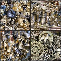 Brass findings (giagir) Tags: collage vintage market mosaic mosaico brass mercato ottone vallombrosa