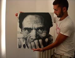Pier Paolo Pasolini ed io. (Lorenzo Tosti .) Tags: streetart graffiti stencil exhibition spray layer artshow stencilart multilayer ppp pasolini pierpaolopasolini