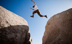 03232010_079 (benmillerphotography) Tags: california sky man outdoors person rocks joshuatree rockclimbing rugged