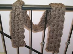 chunky braided scarf