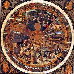 ca. 1500 - 'Calendar-clock panel', Brabant, M - Museum Leuven, province of Flemish Brabant, Belgium (roelipilami (Roel Renmans)) Tags: