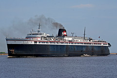The SS Badger (stormdog42) Tags: ferry wisconsin port ship smoke steam carferry manitowoc ssbadger coalfired