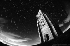Star Trails: You didn't think I'd leave Glastonbury? (AndWhyNot) Tags: light cloud tower monument st night circle spiral star ancient long exposure trails glastonbury stack fisheye pollution 23 tor streaks michaels startrails drift polaris 9539 startrailsexe