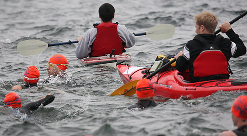 Swim across Lake Washington begins