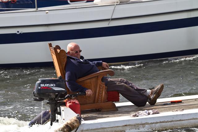 Sail 2010. Nordzeekanaal, local boatlife.