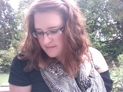 (62/365) Summers Day (Little Empress) Tags: summer selfportrait english girl female garden myself glasses poser photobooth vanity jardin ofme faded leopard leopardprint exposed armani wavyhair inthegarden englishsummer project365 365days
