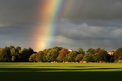 Stray Rainbow Harrogate (jillyspoon) Tags: park light sun rain weather clouds grey rainbow arch colours spectrum threatening yorkshire dramatic harrogate northyorkshire thunderous canon450d canon450dukusers