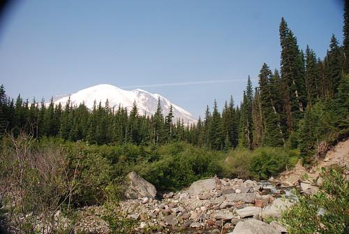 Mount Rainier from the Glacier Basin Trail, Mount Rainier National Park, WA