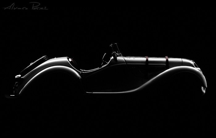 BMW 328 Roadster Silhouette