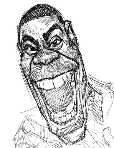 digital sketch studies of Tracy Morgan - 2a small