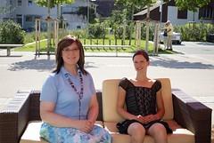 Sonja und Michaela transidente Frauen nach dem Interview mit Farah (Farah im Gespräch mit Sonja)