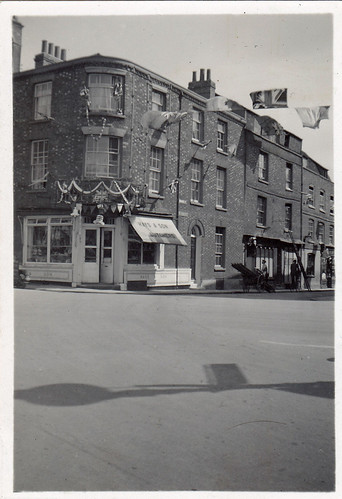 Hays & Son butcher shop. Bridge Street, Abingdon, Oxfordshire. 1930s?