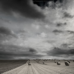 Bales Under An August Sky (Scott Howse) Tags: england sky field clouds farm straw lee bales filters wiltshire avebury graduated cherhill 09h