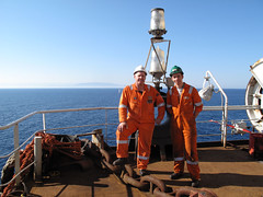 Fugro survey crew (thulobaba) Tags: spain construction crane offshore platform engineering gas jacket barge castor eni saipem ugs heavylift fugro sscv fsltd