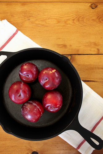 Red Plum and Browned Butter Cobbler