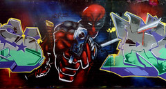Deadpool (Citrus Topnote, Jr.) Tags: london comics graffiti nhs acr marvel merc cbm deadpool