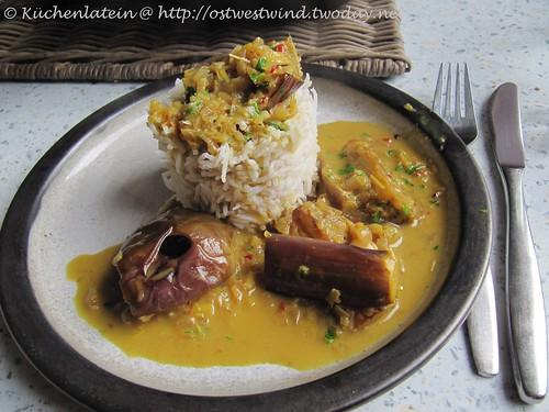 Auberginen Curry mit Zitronengras & Kokosnussmilch