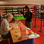 the end of the Iain Banks booksigning
