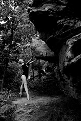 Posture & Confidence (amandanpowell) Tags: blackandwhite ballet nature girl grass rock ballerina huntsville alabama madison pointe rockette pointeshoes rainbowmountain