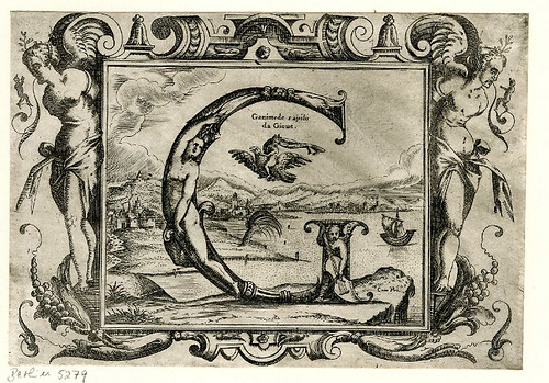 007-Letra G-Grotesque alphabet in mythological landscapes-© The Trustees of the British Museum