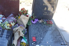, Brandon Lee's Gravestone (Always Flying) Tags: life time silence  brandonlee