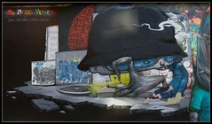 DMV Wall LHS (Romany WG) Tags: party london graffiti jaw block aerosol dmv blo kan 2010 brusk dran meetingofstyles bomk sowat damentalvaporz