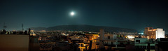 What Silence Said (Ioannis P. Skaltsas) Tags: city panorama moon mountain night landscape cityscape stitch horizon hilton august athens fullmoon moonrise citylights nightsky ymittos ioannispskaltsas