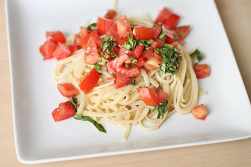 Tomato and basil pasta