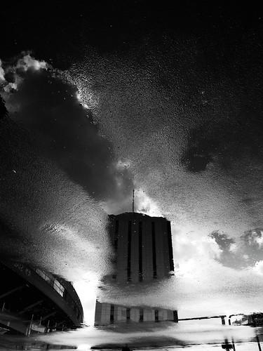 Asphalt clouds.