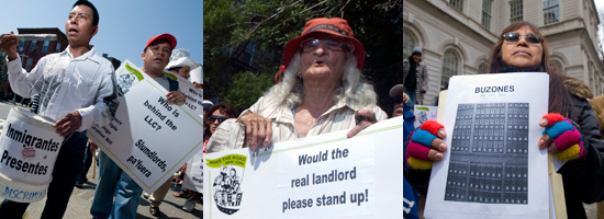 MRNY members call for new law to protect tenants from negligent landlords who hide behind a corporate entity and register their official address as a post office box.