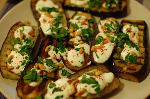 Grilled Aubergine with Lemon and Yogurt
