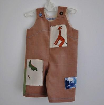 cord giraffe overalls for baby boy