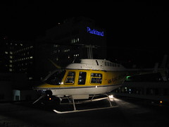 On the pad at Parkland (Douglas Bawden Photography) Tags: dallas texas ems ael bellhelicopter bell206 medivac parklandhospital airevaclifeteam