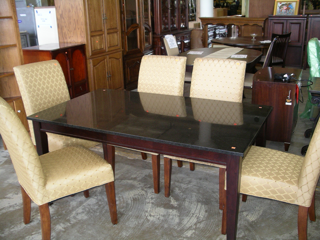 Dining table with granite top - Granite and wood dining table ...