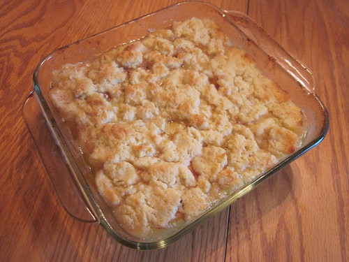 Dessert - peach cobbler