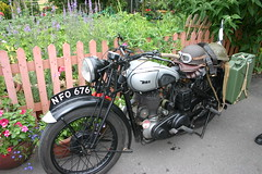 1940s 2010 (Holstein Friesian) Tags: vintage railway severn motorbike 1940s valley ww2 motorcycle reenactment canoneos300d 40s bsa m20 svr kidderminster bsam20