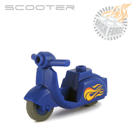 Scooter - Blue (Flame print)