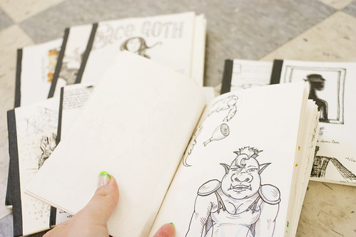 Paring down sketchbooks!