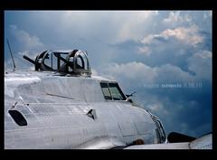 b-17 bomber (vogue99) Tags: world sky clouds plane canon war airshow b17 ii guns bomber