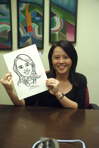 Caricature live sketching @ UOB Finance Division - 9