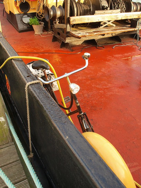 Dutchbike on houseboat