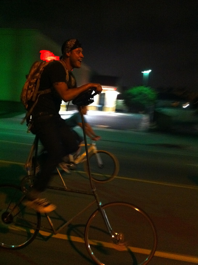 Tall Bike Rider at LACM