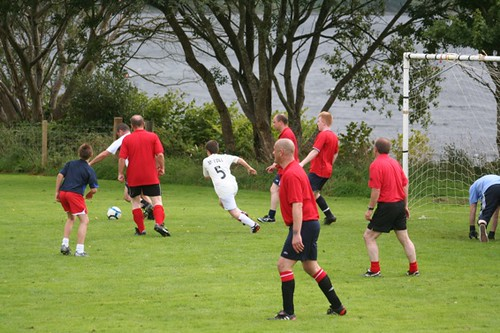 Oldies pack the goal in Furnace Football Match