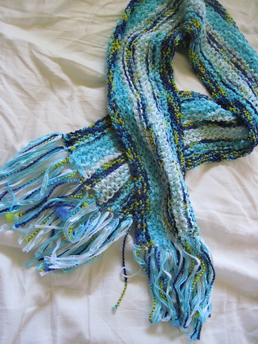 yarn sideways scarf