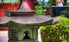 Shining Stone Lantern (JapanDave) Tags: japan photoshop canon aperture shrine bokeh  shinto hdr aichiprefecture stonelantern    mikawa photomatixpro  eos450d   davidlaspina rebelxsi kissx2 chubu  topazadjust 55250efsis okazakicity shiratorishrine japandave japandavecom toro  honshu