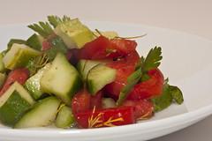 Tomate-Gurken-Salat