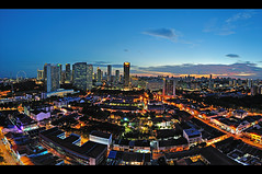 City District - Singapore (Marvin™) Tags: city longexposure sunset panorama night singapore apartment condo cbd bugis mbs beachroad jalansultan citydistrict tamron1750f28 nikond90 textilecentre vertoramabluehour