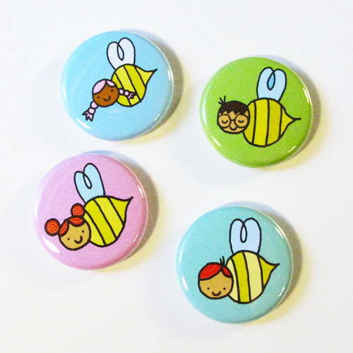 Honey's Salon Bee Badges 7